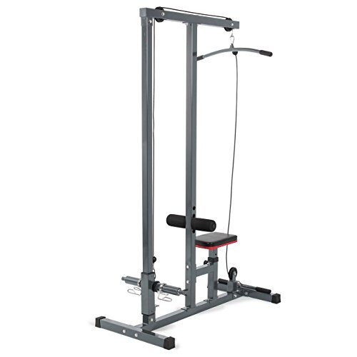 G&Gonline Multi-Function Pro LAT Pulldown Machine w/Low Row Bar Cable Fitness Station Gym