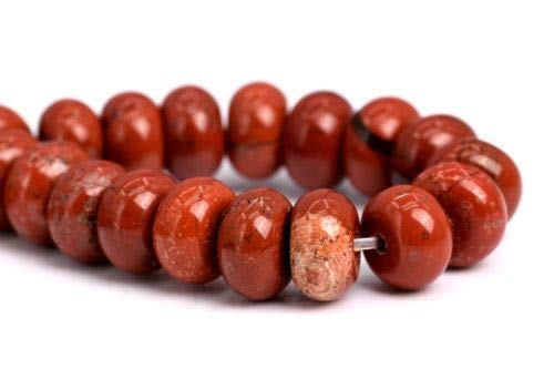 (6x4mm Natural Red Jasper Gemstone Beads Grade Rondelle Loose Beads 7.5'' Crafting Key Chain Bracelet Necklace Jewelry Accessories Pendants)