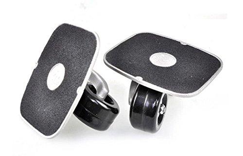 JINCAO Black Portable Roller Road Drift Plate Skates Anti-Slip Board Aluminum Truck with PU Wheels with ABEC-7 608 Bearings by JINCAO