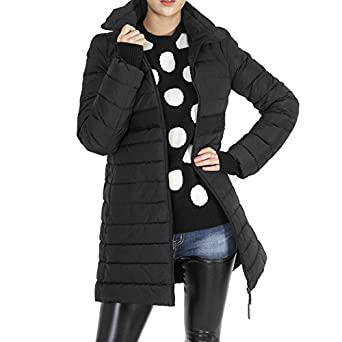 Moncler Sologne Women's Zip-Up Padded Coat 4 Black at