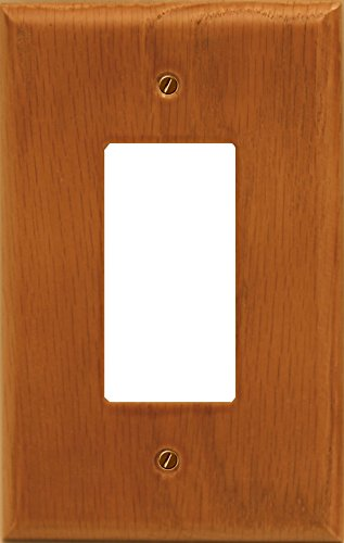 (Runwireless Traditional Light Oak Wood, Switch plate, Wall plate, Cover _ 4-430R)