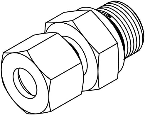 ,S16 with Captive Seal 24 x 1.5 Steel x M22 x 1.5 Tompkins Industries MC6053-S16-22 Metric Compression Male Stud Coupling Metric