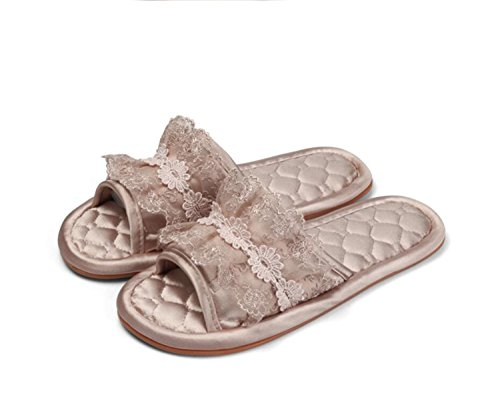 DANDANJIE Zapatillas de Tela de Mujer Suela Blanda Zapatillas de Mute de Piso Interior para Interiores Zapatos de Suela de tendón Zapatos caseros One color