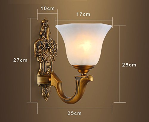 Cu@ey ottone continentale lampada da parete in casa e cucina