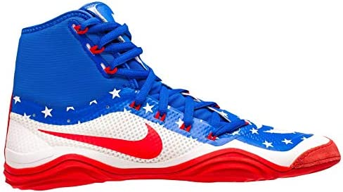 new arrival c4dc1 3ecf5 Nike Men s Hypersweep Wrestling Shoes (White Red, 7 D (M) US