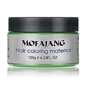 Unisex DIY Hair Color Wax Mud Dye Cream Temporary Modeling 7 Colors Mofajang Green