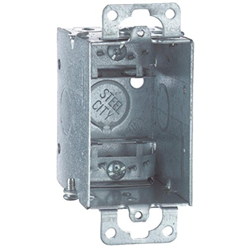 Steel City LXOW-25 Switch Box, Gangable, Old Work, Welded Construction, 1 Gang, 3-Inch Length by 2-Inch Width by 2-1/2-Inch Depth, Galvanized