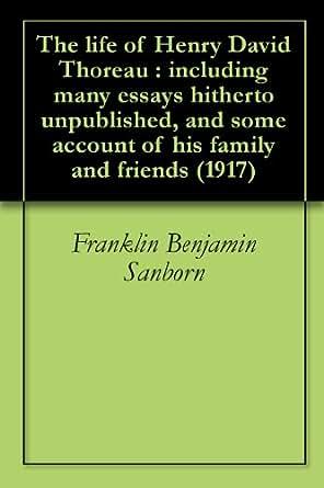 thoreau essays amazon Transcendentalism: essential essays of emerson & thoreau ebook: henry david thoreau, ralph waldo emerson: amazoncomau: kindle store.