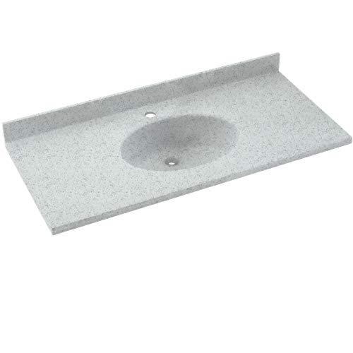 Swan CH1B2243BD-053 Chesapeake Solid Surface Bathroom Vanity Top Tahiti Gray