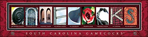 (College Campus Letter Art South Carolina Gamecocks Bold Print Unframed Poster 22x6 Inches)