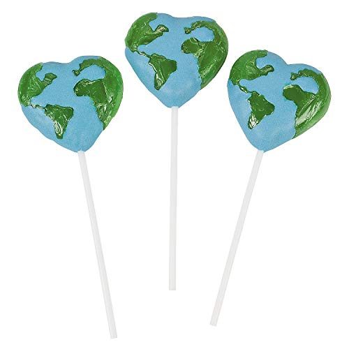 Fun Express - Love The Earth Character Suckers - Edibles - Sucker & Pop - Character Suckers - 12 Pieces ()