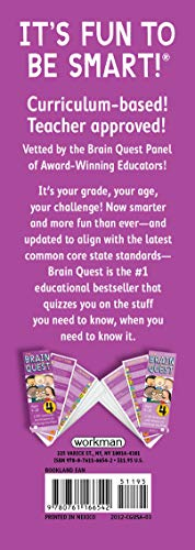 Brain Quest 4th Grade Q&A Cards: 1,500 Questions and Answers to Challenge the Mind. Curriculum-based! Teacher-approved! (Brain Quest Decks)
