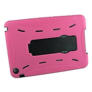hao Silicon and Plastic with Stand Robot Case for iPad mini , Red