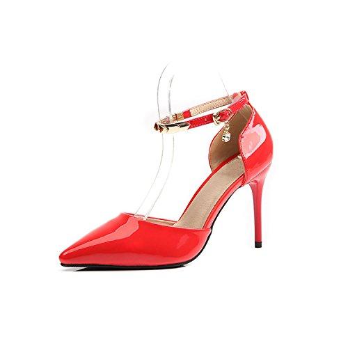 Xzl Scarpe Festa 37 Alla Fibbia Nuovo Nuziale Vestito Bellissime b0052 Caviglia Altezza 7cm soppalco Tallone xF1wPwXqa