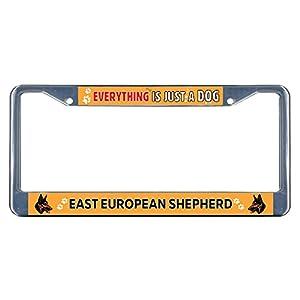 Sign Destination Metal Insert License Plate Frame East European Shepherd Dog Everything Else Weatherproof Car Accessories Chrome 2 Holes Solid Insert Set of 2 8