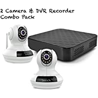 Security Surveillance NVR System - Includes 2 IPCAMHD61 IP Cameras and 1 Cloud Recorder Box SLIPCAMCLB1 - SereneLife IPCAMPACK10