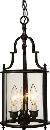 Artcraft Lighting Manor 3-Light Urn Light, Rich Bronze