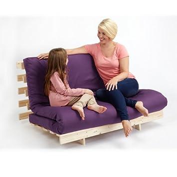 Changing Sofas Juego Completo de futón Base y colchón Triple ...