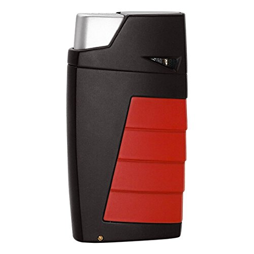 Tonino Lamborghini TTR018007 Duo Twin Jet Torch Flame Cigar Lighter - Black with Red
