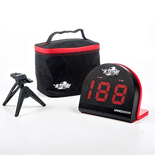 "HockeyShot Puck and Ball Speed Radar Hockey Training Aid Large red 2 1/8"" 3 Digit LED Display Speed Range 3 mph to 150 mph"