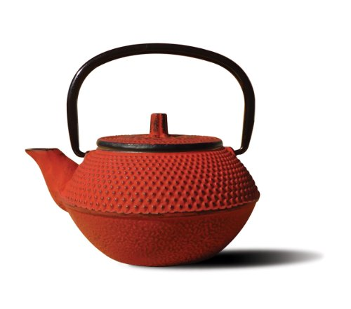 Old Dutch Mini Cast Iron Tokyo Teapot, 11-Ounce, Red (Tetsubin Cast Iron)