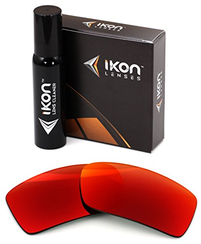 Polarized IKON Replacement Lenses For Von Zipper Sham Sunglasses - Red ()
