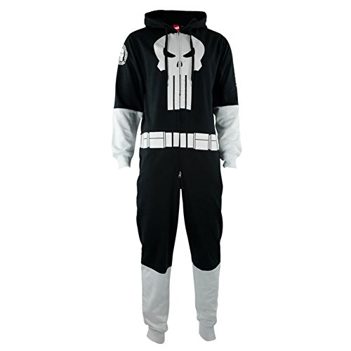One Piece Sweatsuit - Marvel Punisher - Zipper Costume Jumpsuit -