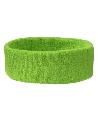 Stirnband Headband Kopfband Knitband Schweißband schwarz navy rot weiß Stirnbänder Tennis Squash Badminton Fitness (Preis pro Stück) (Lime-Grün)