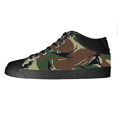 Chaussures De Toile De Camouflage De Coutume Femmes Les Chaussures De Lacets Baskets Haut-dessus