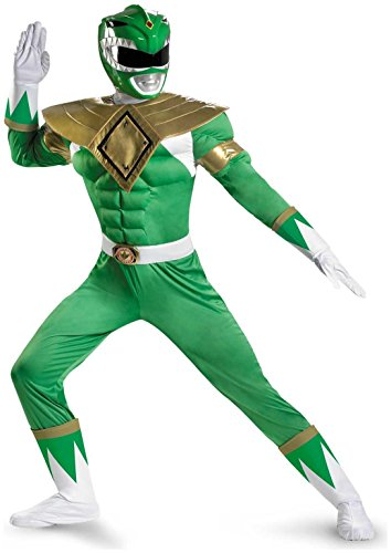 Green Ranger Classic Muscle Adult Costume - -