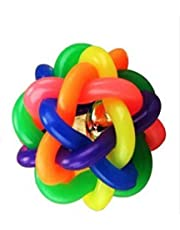 Coconut Puppy Kitten Toy Rainbow Ball with Ring Rubber Balls