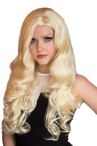 Annabelle de las pelucas Extra larga de, de la luz rubia de pelo ondulado con