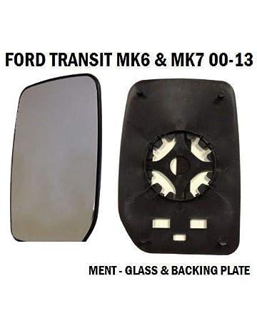 TAKPART Front Door Wing Mirror Glass Left Passenger Side Compatible for Transit MK6 MK7 2000-2013