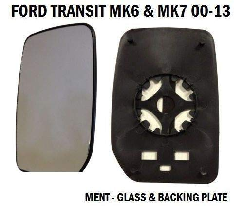 FRONT DOOR WING MIRROR GLASS TRANSIT MK6 MK7 2000-2014 PASSENGER LEFT SIDE TPUK