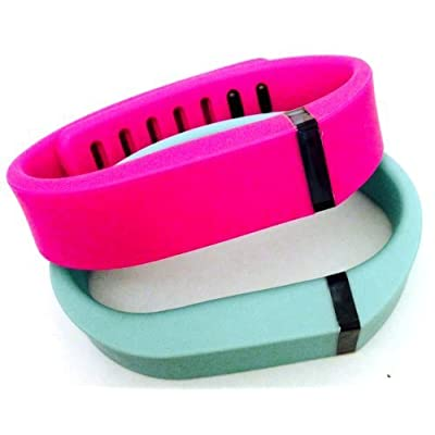 ! Small S 1pc Teal (Blue/Green) 1pc Purple / Pink Replacement Bands + 1pc Free Small Grey Band With Clasp for Fitbit FLEX Only /No tracker/ Wireless Activity Bracelet Sport Wristband Fit Bit Flex Bracelet Sport Arm Band Armba