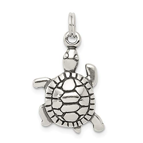 925 Sterling Silver Antique Turtle Pendant Charm Necklace Sea Life Fine Jewelry Gifts For Women For -