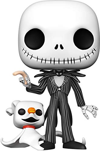 Funko- Pop Disney Christmas-10 The Nightmare Before Christmas Jack w/Zero Figura Coleccionable, Multicolor (49006)