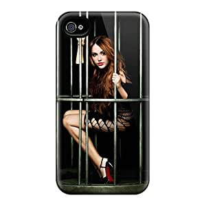 Slim Fit Tpu Protector Shock Absorbent Bumper Miley Cyrus 48 Case For Iphone 4/4s