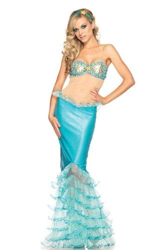 Reizvoller Blaue Meerjungfrau Kostüm