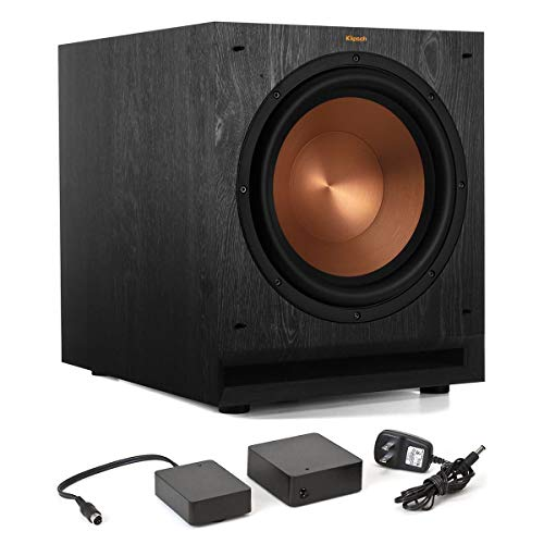 Klipsch SPL-120 12″ Subwoofer (Ebony) with WA-2 Wireless Subwoofer Kit
