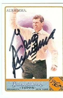 (Geno Auriemma autographed trading card (Basketball Coach, UCONN) 2011 Topps Allen and Ginters Champions)