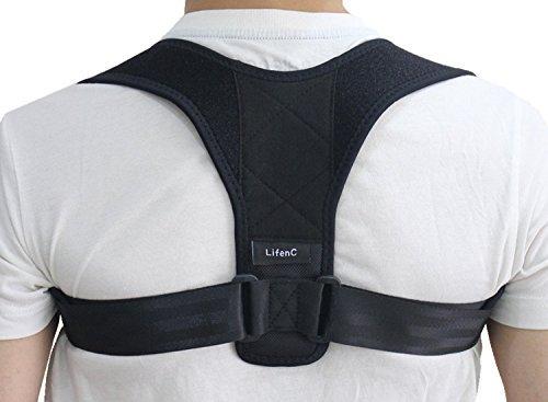 LifenC Adjustable Back Posture Corrector Posture Support Clavicle Shoulder...