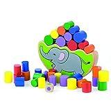 Viga Wooden Elephant Balancing Block Game ... by Viga