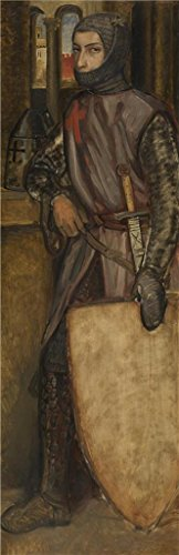 Oil Painting 'Henri Leys - Godfrey Of Bouillon,19th Century' Printing On Perfect Effect Canvas , 8x25 Inch / 20x63 Cm ,the Best Basement Decoration And Home Artwork And Gifts Is This High Quality Art Decorative Canvas Prints ()
