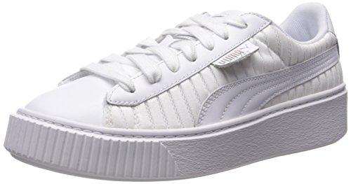 - PUMA Women's Basket Platform En Pointe Wn Sneaker White, 8 M US