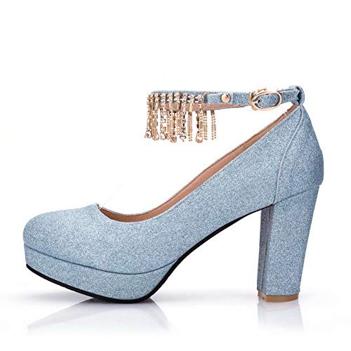 para de Mujer con Plataforma Azul BalaMasa APL10654 Urethane Zapatos Flecos 5BpxAIwnqt