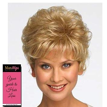 Sonata Top Piece Color R12t Pecan Brown Raquel Welch Wigs Short Curly Hair Topper