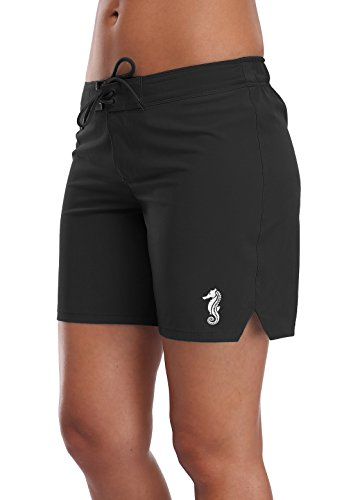Anfilia Womens Swim Shorts Board Shorts Women's Swimwear Black