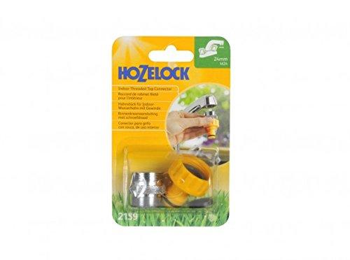 Hozelock 2159 9000 Conector roscado para Grifo de Interior 24 mm M24 Macho