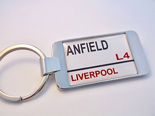 Liverpool Stadium Street Sign Keychain with Gift Pouch